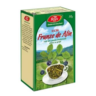 ceai frunze de afin