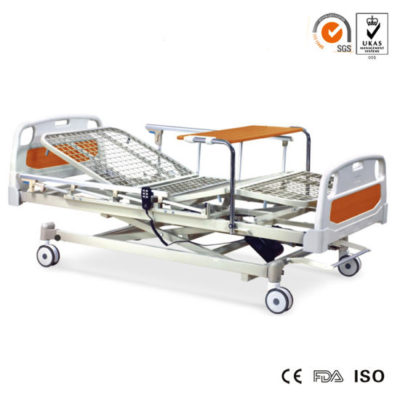 Topmedi-Economical-Three-Function-Electric-Power-Hospital-Bed-with-Foot-Table-for-Option