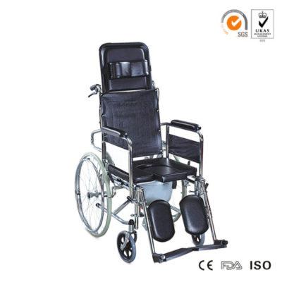 U-Shape-Commode-High-Back-Wheelchiar-for-Handiccaped